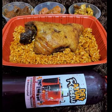 Jollof and Ram Meet with Sides