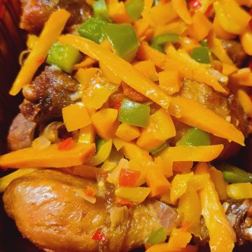 Fried Drumstick With Vegies (5pcs)